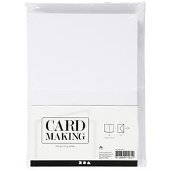A6 Karten/Umschläge - Weiß - 50 Sets