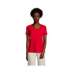 Shirt aus Leinenmix, Damen, Größe: S Normal, Rot, by Lands' End, Kompassrot - S - Kompassrot