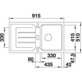 Blanco Classic Neo 5 S tartufo + Excenterbetätigung + InFino + Kunststoffschneidbrett