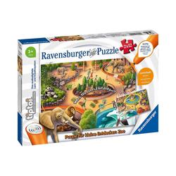 Ravensburger Puzzle tiptoi® Puzzle für kleine Entdecker: Zoo (ohne, Puzzleteile
