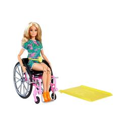 Mattel® Anziehpuppe Barbie blonde Fashionistas Puppe mit Rollstuhl,