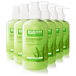 BRUBAKER Handseife Flüssigseife mit Aloe Vera Duft, 6-tlg., feuchtigkeitsspendend, im praktischen Spender grün