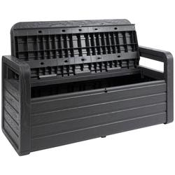 ONDIS24 Truhenbank Spring, Sitzbank mit Kissenbox aus Kunststoff
