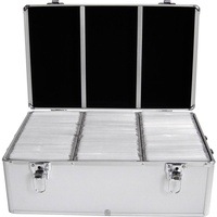 MediaRange DJ-Koffer für 500 CD/DVD silber