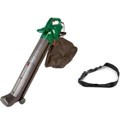 4 in 1 Elektro Laubsauger, 3000 Watt + Zusatz-Fangsack und Sicherheits-Arbeitsgurt