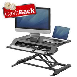 AKTION: Fellowes Monitorständer Lotus LT Sitz-Steh Workstation mit CashBack
