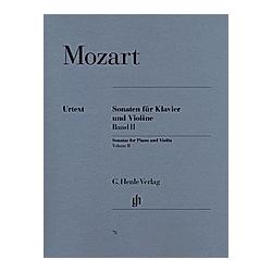 Sonaten für Klavier und Violine. Wolfgang Amadeus - Violinsonaten  Band II Mozart  - Buch