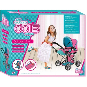 Puppenwagen Buggy 3 in 1 Set Puppen Kinderwagen