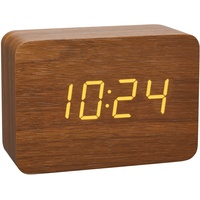 TFA 60.2549.08 Wecker Holz, Hellbraun Alarmzeiten 1