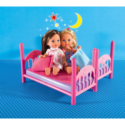 SIMBA Anziehpuppe Evi LOVE Doppelstockbett, 2 Puppen