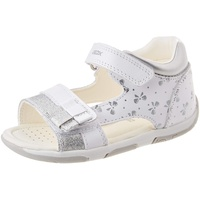 GEOX B TAPUZ Girl Sandals, White/Silver, 21