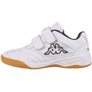 Kappa Unisex-Kinder Kickoff Sneaker, Weiß (1011 white/black), 25