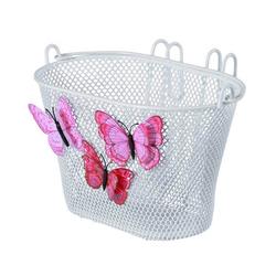 Basil Fahrradkorb Kinderkorb Jasmin Butterfly, engmaschig, weiß,