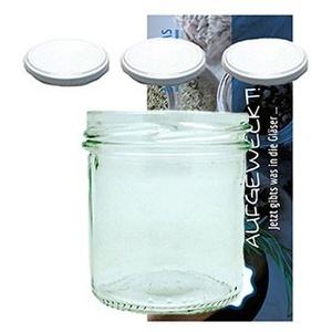 60 Sturzgläser 167 ml Marmeladengläser Einmachgläser Einweckgläser To 66 Weißer Deckel