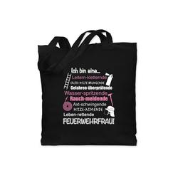 Shirtracer Umhängetasche Ich bin eine ... Feuerwehrfrau! - Feuerwehr - Jutebeutel lange Henkel - Jutebeutel & Taschen, jutebeutel feuerwehrfrau