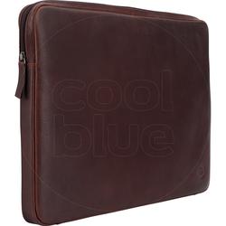 BlueBuilt 17-Zoll-Laptophülle Breite 41 cm - 42 cm Leder Braun