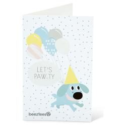 Beeztees Puppy Postkarte mit Umschlag Paw