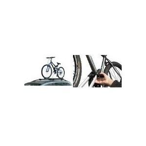FISCHER Dach-Fahrradträger, für 1 Fahrräder zur Befestigung auf der KFZ-Dachreling, zum Transport von - 1 Stück (18093)