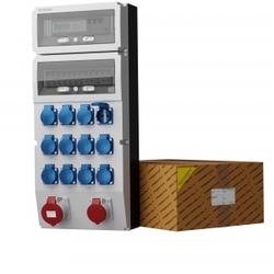 Stromverteiler eXT-S/FI 32A 16A 12x230V + 3Phasige Stromzähler Doktorvolt® 0762