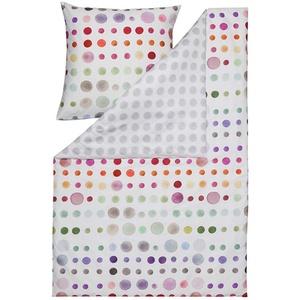ESTELLA Bettwäsche Spot | Multicolor | 135x200 + 80x80 cm | Mako-Satin mit seidigem Glanz | trocknerfest | atmungsaktiv und anschmiegsam | 100% Baumwolle