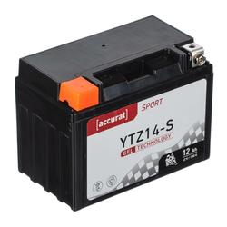 Accurat Sport GEL YTZ14-S Motorradbatterie 12Ah 12V (DIN 51101) YTZ14S YTZ14S-BS YG14ZS