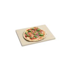BURNHARD Pizzastein Universal für Backofen & Grill, Cordierit, 38 x 30 x 1.5 cm gelb 30 cm x 1.5 cm