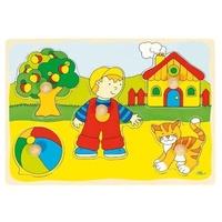 GoKi Steckpuzzle Katze Haus (57858)