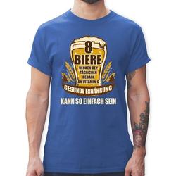 Shirtracer T-Shirt 8 Biere decken den Tagesbedarf an Vitamin C - Sprüche - Herren Premium T-Shirt XL