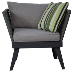 Jet-Line Gartenmöbelset Sessel für Gartenset Cuba in grau Gartenmoebel Lou