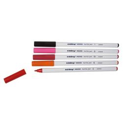 EDDING Textilmarker Textilstifte-Set Brilliant Colours 4600, 5er-Set bunt