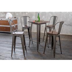 KAWOLA Essgruppe Bartisch VILDA und Stuhl ELI, 3 oder 5 teilig Bartisch VILDA und Stuhl ELI
