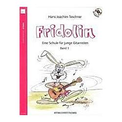 Fridolin  für Gitarre  m. Audio-CD. Hans J. Teschner  - Buch