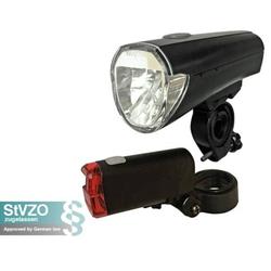 Arcas Fahrradbeleuchtung LED Fahrradlampe Fahrradbeleuchtung Fahrradlicht schwarz