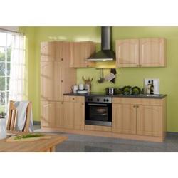 HELD Möbel Küchenzeile Rom 270 cm Buche Nachbildung - ohne E-Geräte