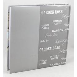 IDEAL TREND Album Feel Home Fotoalbum in 30x30 cm 100 weiße Seiten Jumbo Buchalbum Fotobuch grau