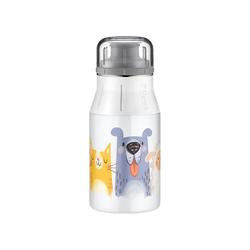 Alfi Trinkflasche Edelstahl Trinkflasche Drinking Bottle cute weiß