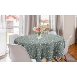 Abakuhaus Tischdecke Kreis Tischdecke Abdeckung für Esszimmer Küche Dekoration, Brettspiel Schachfiguren, König, Dame