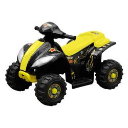 vidaXL Scooter Kinder Elektro Quad 3 km/h Akku gelb