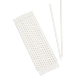 VBS Trinkhalme, 25 Stück, aus Papier weiß