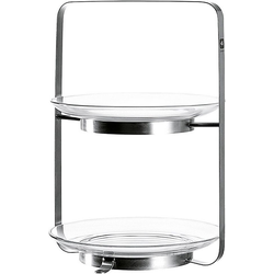 LEONARDO Etagere Glas/Metall Etagere