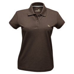 Hunter Damen-Poloshirt braun, Größe: XL