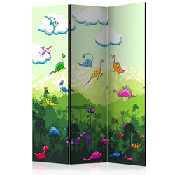 Parawan 3-częściowy - Kolorowe dinozaury