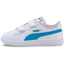 PUMA Smash Sneaker Kinder in puma white-dresden blue, Größe 28 puma white-dresden blue 28