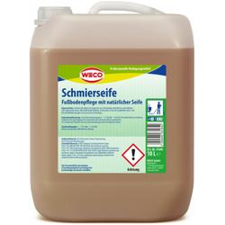 WECO Schmierseife, Fußbodenpflege auf Basis natürlicher Seife, 10 l - Kanister
