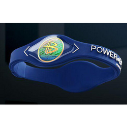 Armband Powerbalance L, Dark blue / weiß