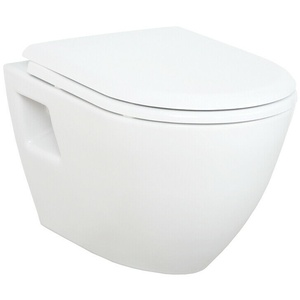 Design Hänge Wand-WC Soft Close WC-Sitz Toilette Kloschüssel Klobrille Badezimme