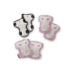 Hudora Protektoren-Set Protektoren-Set, 6-tlg. rosa 150-170