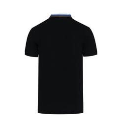 Lavard Schwarzes Herren-Poloshirt mit Stehkragen 72892  L