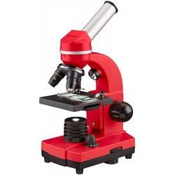 BRESSER junior Mikroskop Schülermikroskop BIOLUX SEL rot