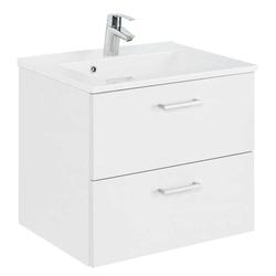 Weißer Waschtisch 60 cm breit zwei Schubladen
